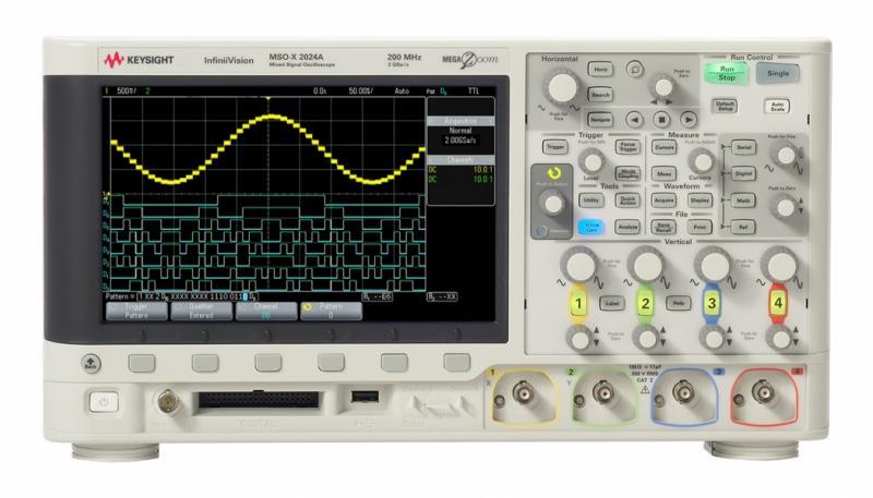 MSOX2024A Osiloskop: 200 MHz, 4 Analog 8 Dijital Kanal