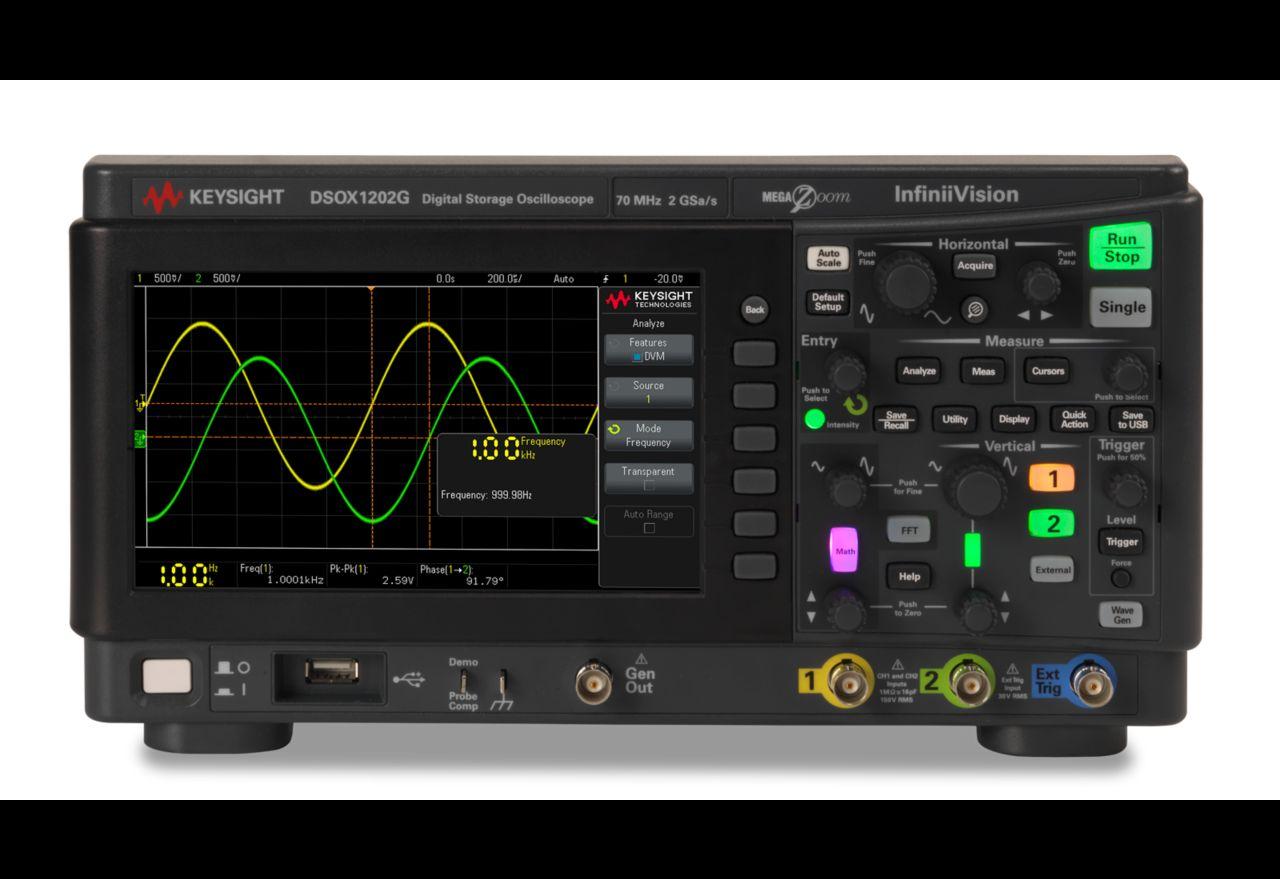 DSOX1202G Osiloskop 70/100/200 MHz, 2 Analog Kanal, Dahili Sinyal Üreteçli
