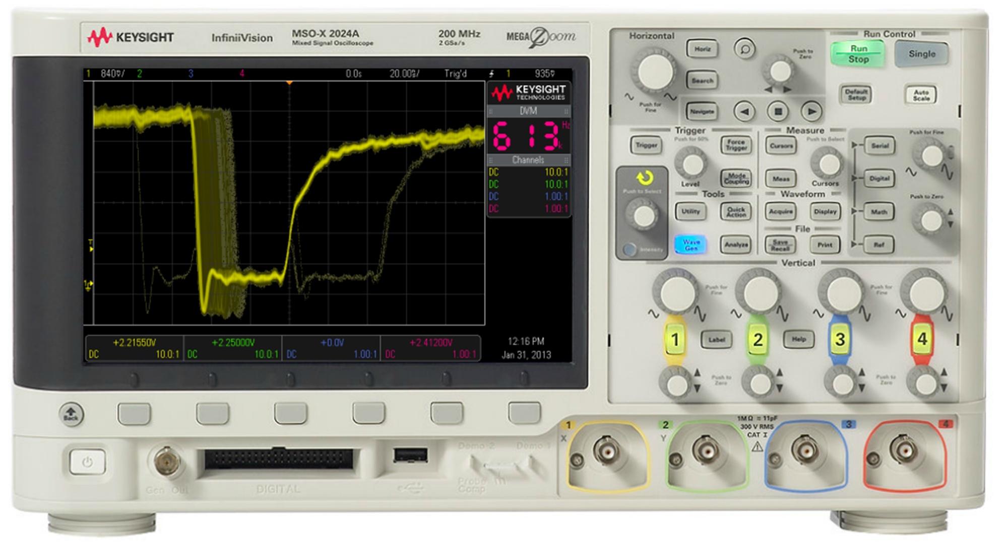 MSOX2012A Osiloskop: 100 MHz, 2 Analog  8 Dijital Kanal