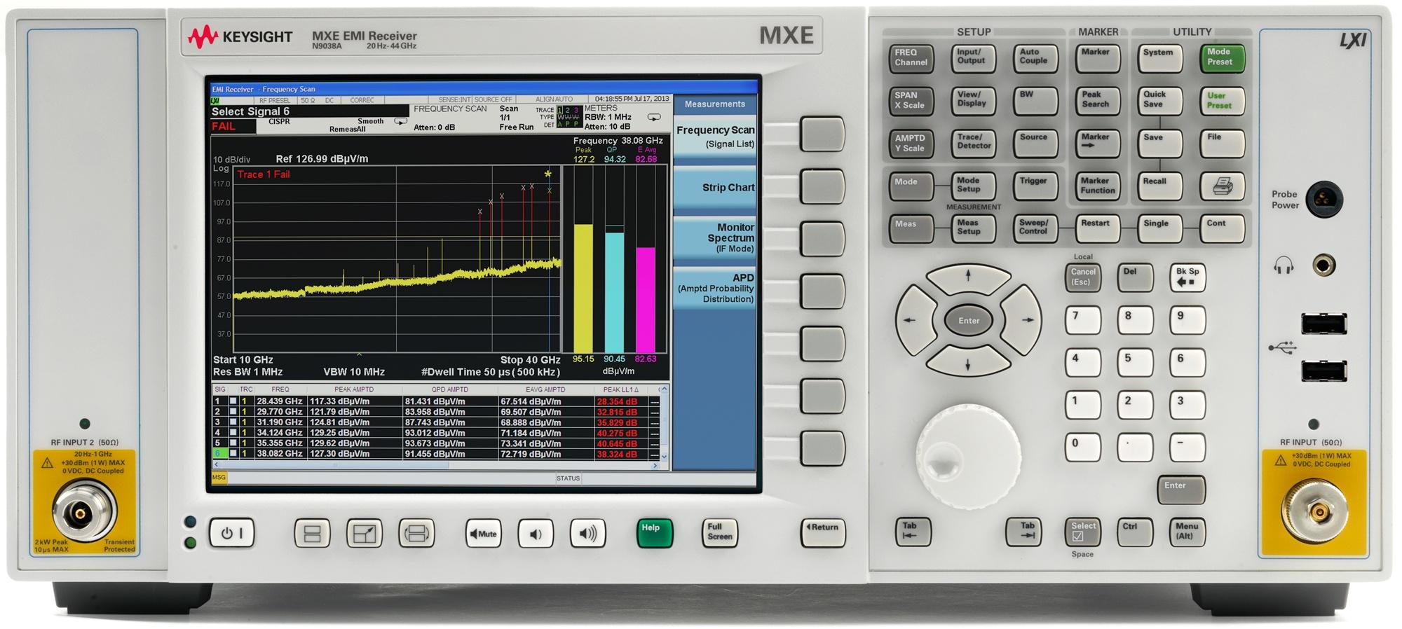 N9038A MXE EMI Alıcı, 3 Hz - 44 GHz