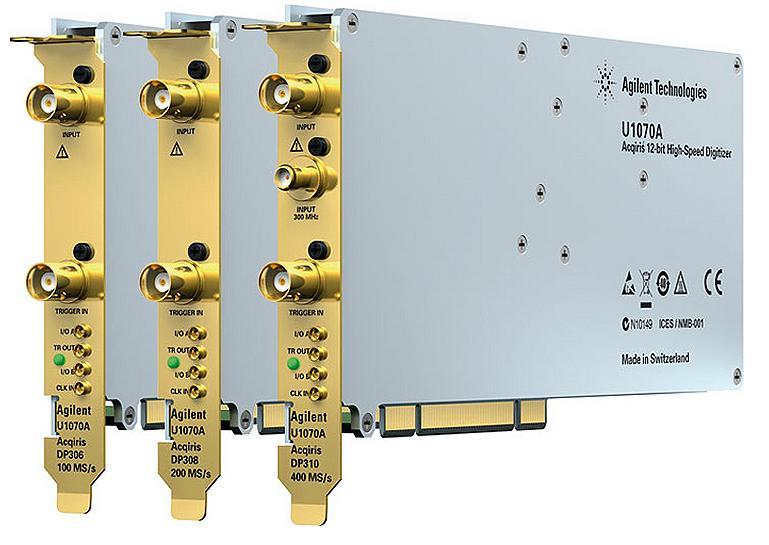 U1070A Acqiris 12-bit Yüksek Hızlı PCI Sayısallaştırıcılar