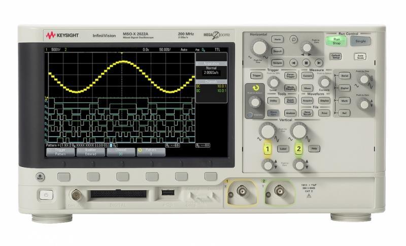 DSOX2012A Osiloskop: 100 MHz, 2 Kanal
