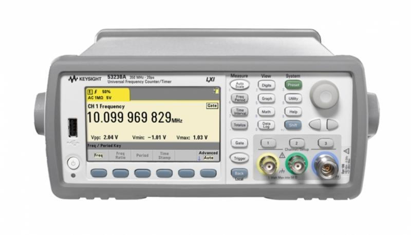 53230A 350 MHz Universal Frekans Sayacı/ Zamanlayıcı, 12 dijit/sn