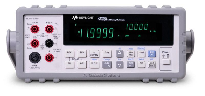 U3402A Dijital Multimetre, 5½ Dijit Çift Ekran