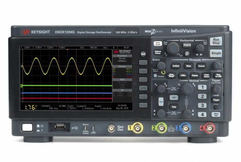 DSOX1204G Osiloskop 70/100/200 MHz, 4 Analog Kanal, Dahili Sinyal Üreteçli