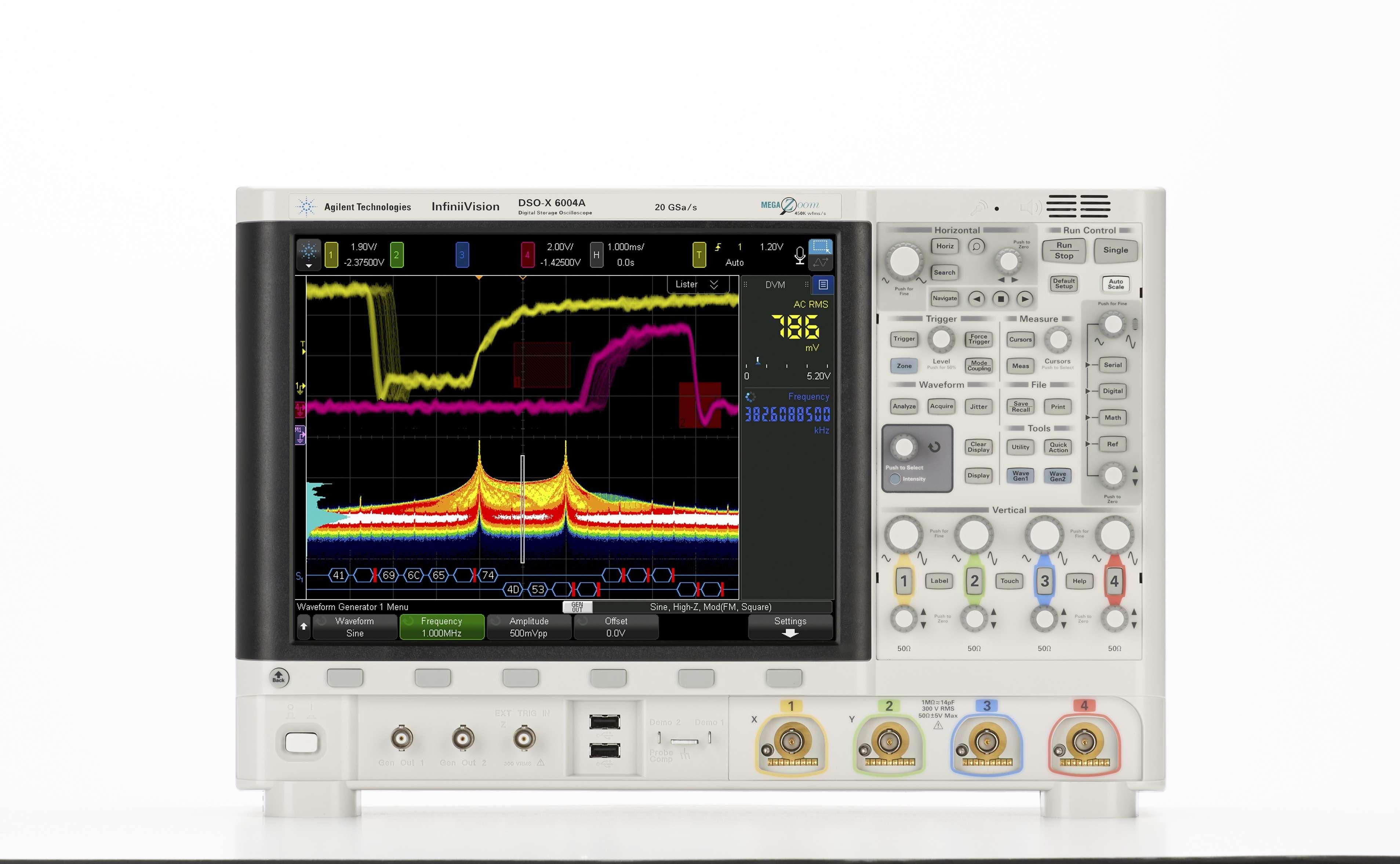 DSOX6004A Osiloskop: 1 GHz - 6 GHz, 4 kanal