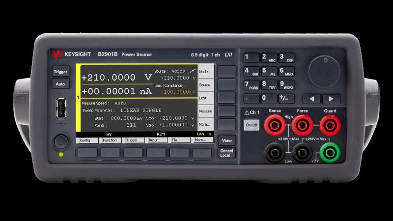 B2901B Hassas Kaynak/Ölçüm Birimi, 1 Kanal, 100 fA Çözünürlük