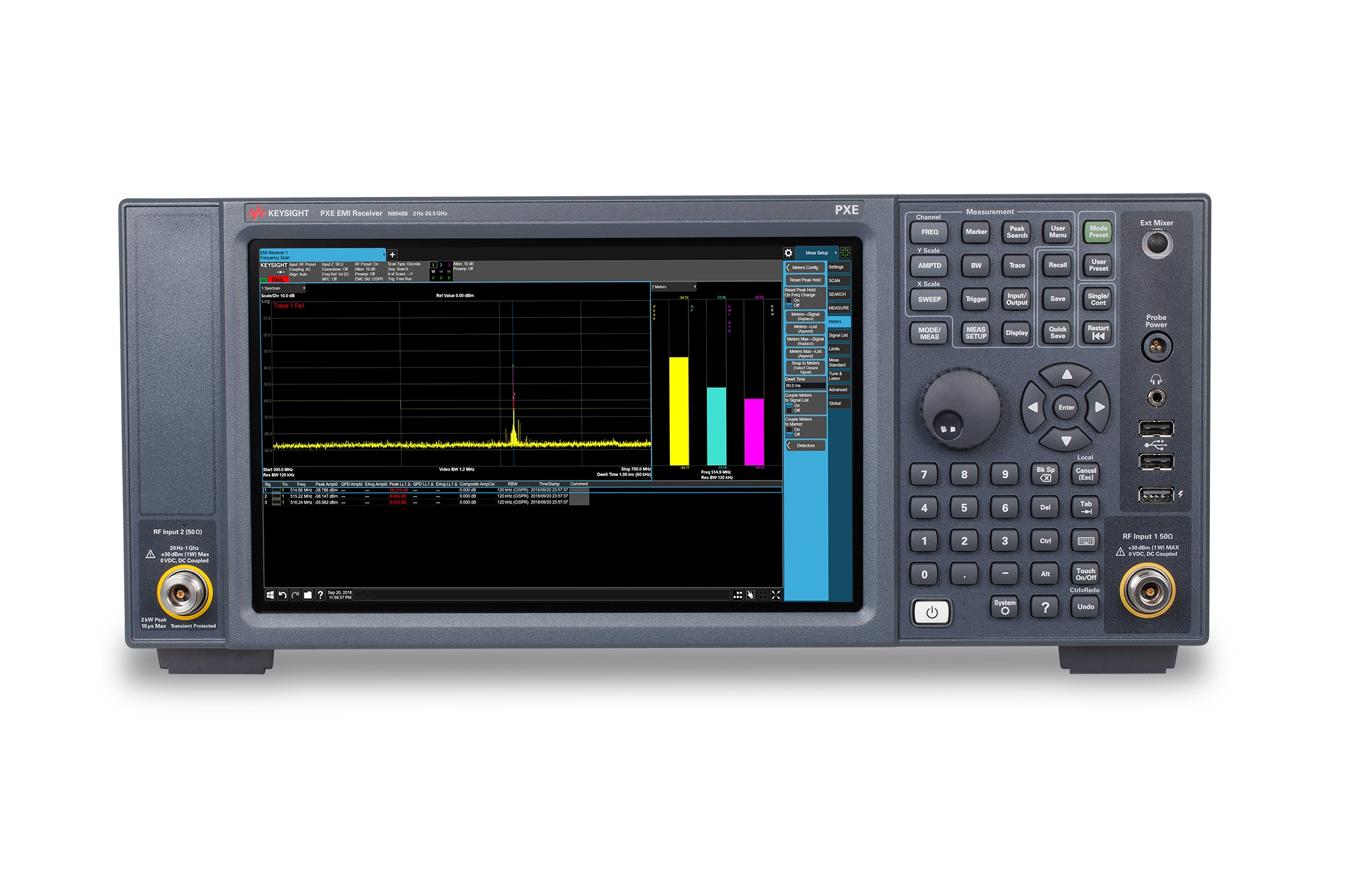 N9048B PXE EMI Alıcı, 2 Hz - 26.5 GHz