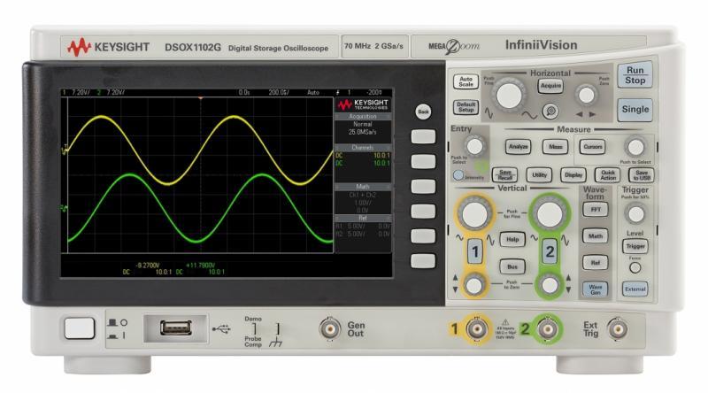 DSOX1102G Osiloskop 70/100 MHz, 2 Analog Kanal, Dahili Sinyal Üreteçli