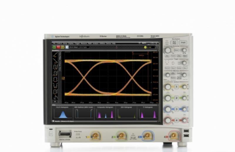 MSOS254A Osiloskop: 2.5 GHz, 4 Analog 16 Dijital Kanal