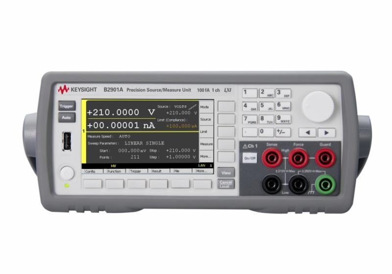 B2901A Hassas Kaynak / Ölçüm Birimi, 1 ch, 100 fA